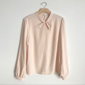 EUC Anthropologie Eri Ali Top Blouse Blush Shirt M